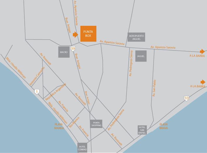 Punta del Este Punta Box Ubicacion Direccion